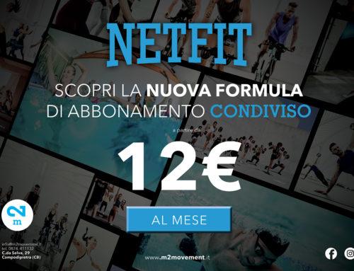 NetFit l'abbonamento condiviso